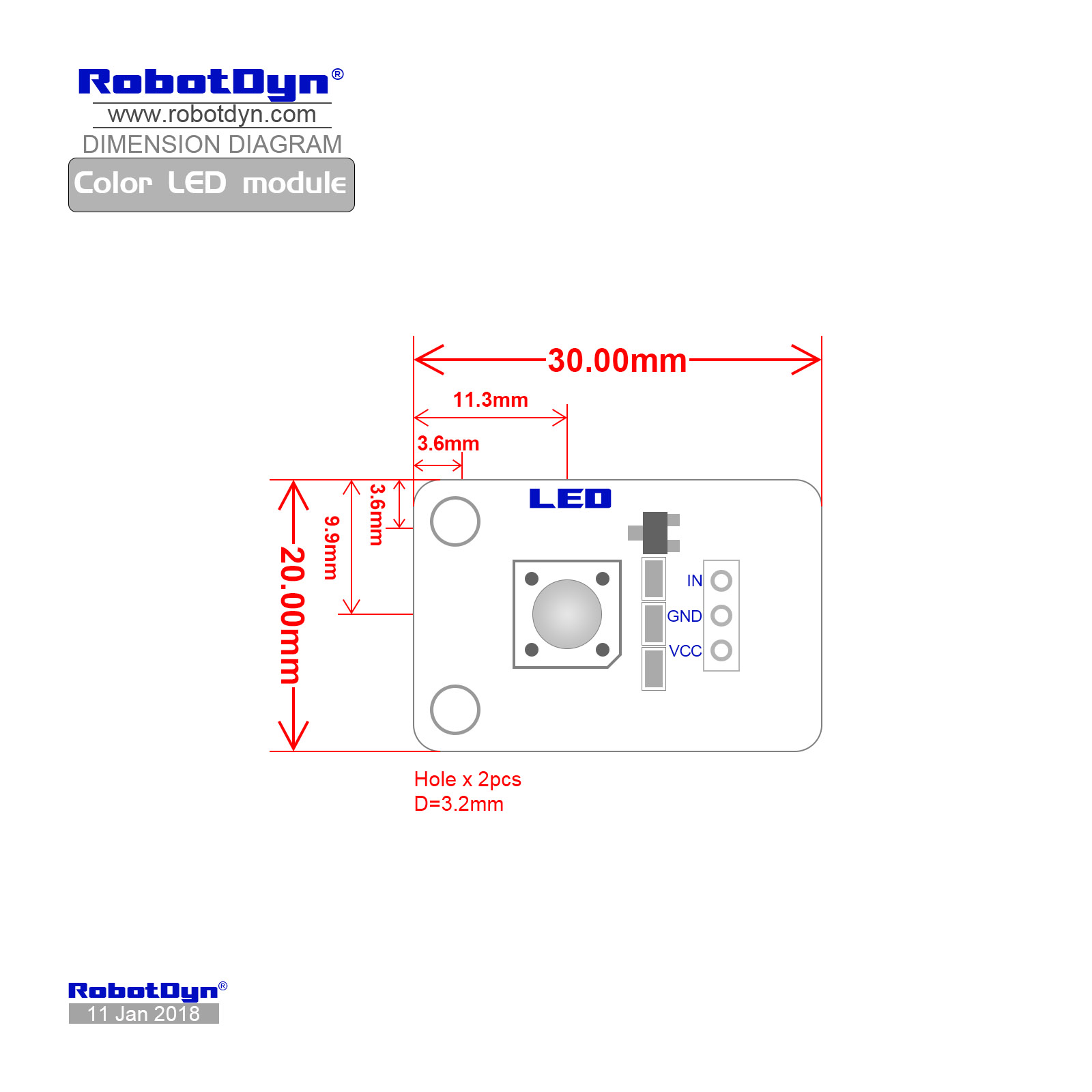 color led module  blue