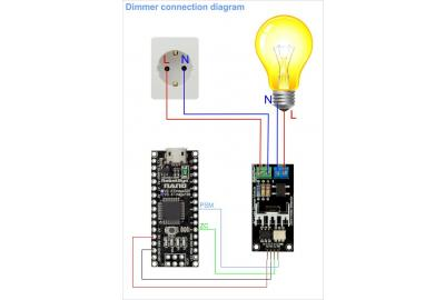 How to connect a dimmer to microcontrollers