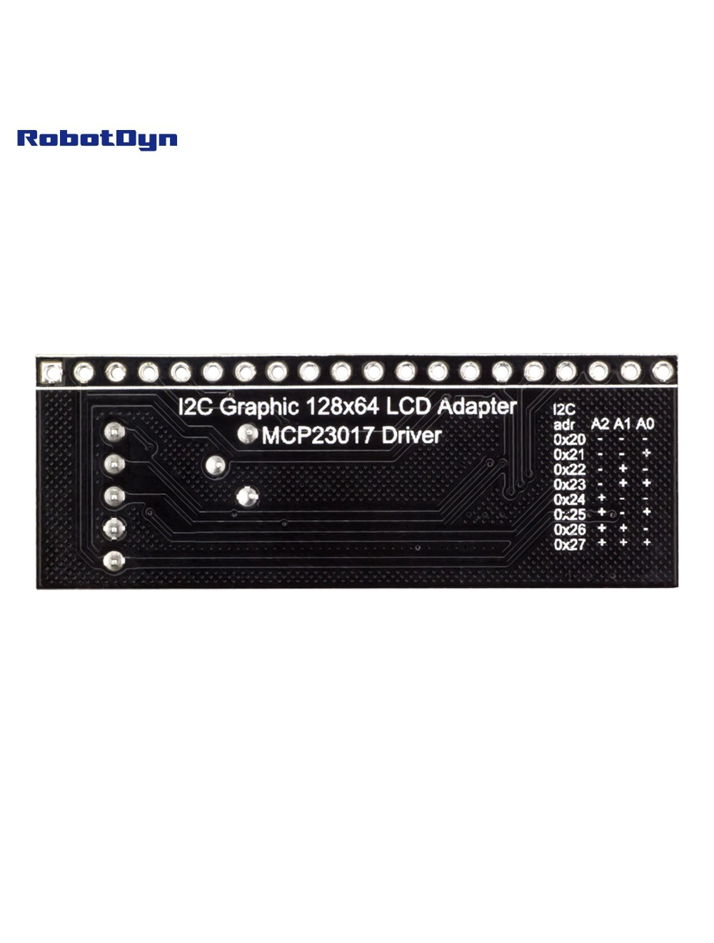 I2C Graphic 128x64 LCD Adapter