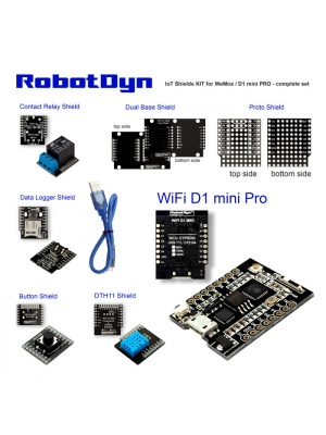 IoT KIT - Wemos D1 mini PRO with shields set, ESP8266+32Mb
