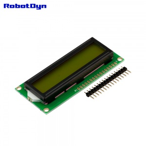 LCD display 1602 (symbols 2 rows 16 columns)
