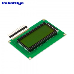 LCD display 1604 (symbols 4 rows 16 columns)