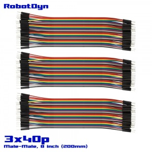 Jumper Dupont wire, Male  to Male (M/M) 3x40L ribbon (8