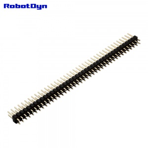 PinHeader Male Double Row 10x 2x40pin, 2.54mm Pitch,Straight, H=2.5, L=11.5