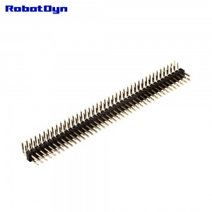 PinHeader Angle Male Double Row  10x 2x40pin, 2.54mm Pitch,90°, H=2.5