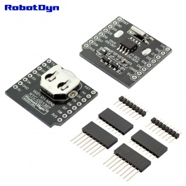 WIFI D1 mini - shield RTC DS1307 (Real Time Clock) with battery - RobotDyn