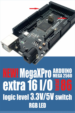 MEGA+WiFi R3 ATmega2560+ESP8266, flash 32MB, USB-TTL CH340G