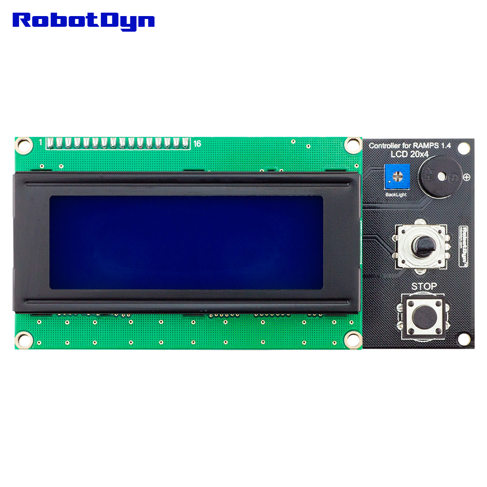 3D printer KIT 3 Budget: Smart LCD 2004 Controller for RAMPS 1.4 with SD card reader