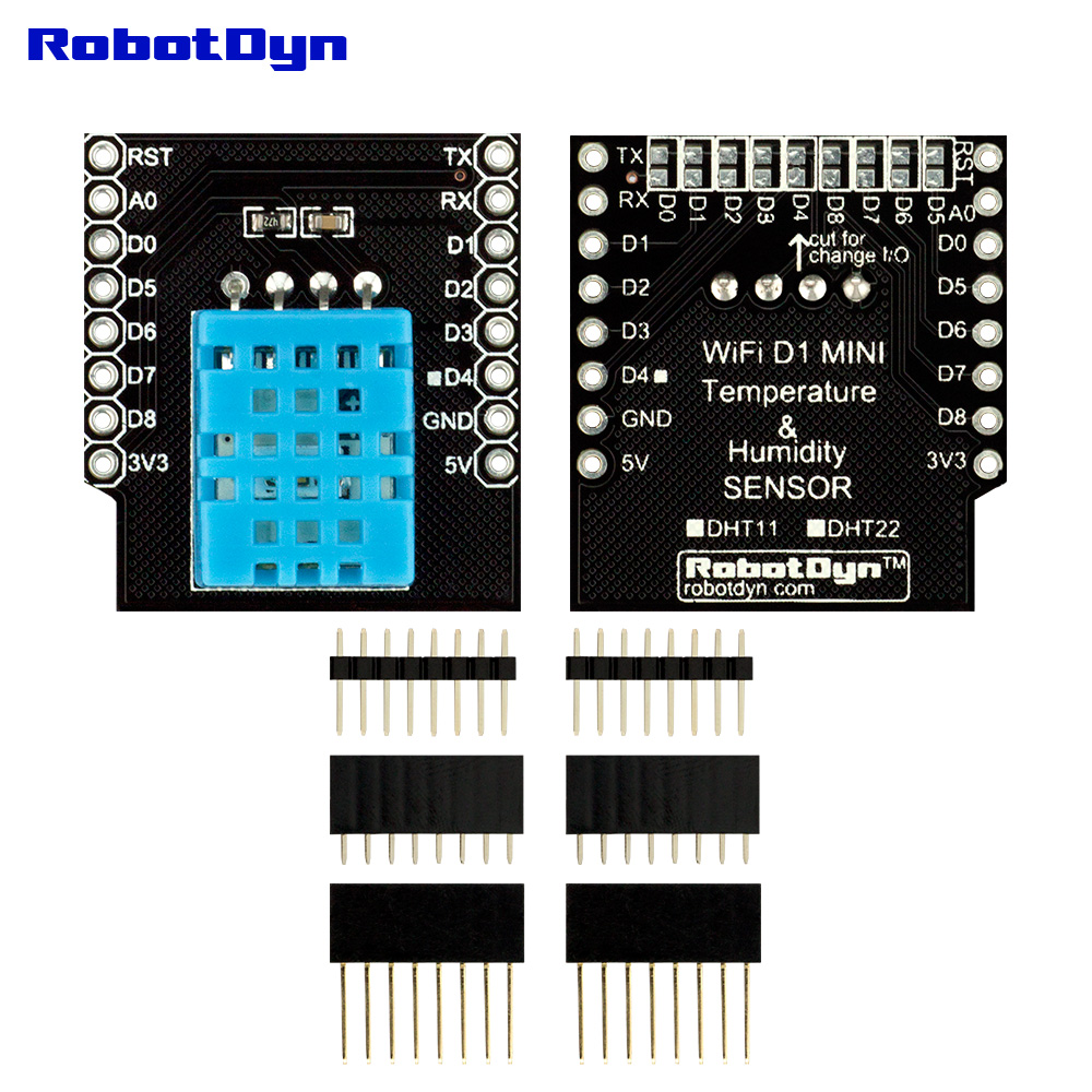 IoT KIT 1 - WeMos D1 mini PRO ESP8266 + 32Mb flash, with basic shield sets: Dual Base Shield + ProtoShield + Button + Contact Relay + Data Logger + DHT11 for Arduino IoT kit WiFi projects