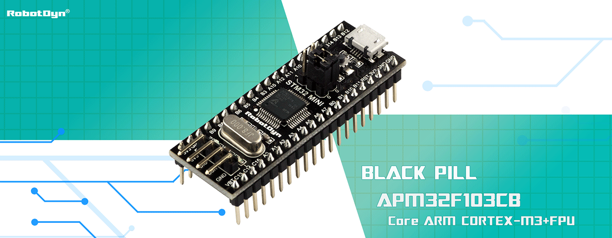 Black Pill APM32F103 development board, compatible with STM32